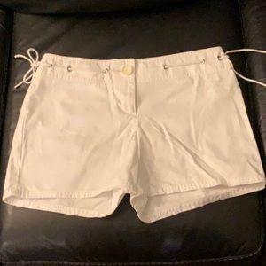 Ann Taylor LOFT White shorts grommets deco…